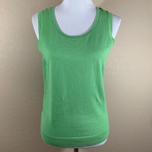 Talbots Green Sweater Vest